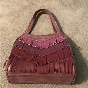 Merlot hombre fringe leather purse